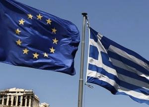 banderas grecia y union europea