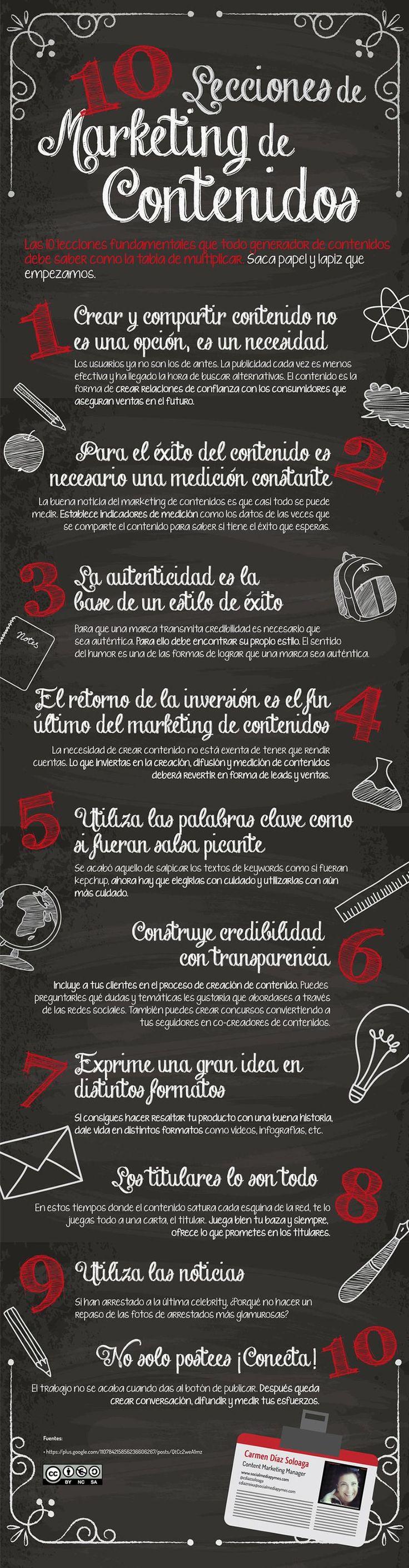 10 lecciones clave sobre el Marketing de Contenidos