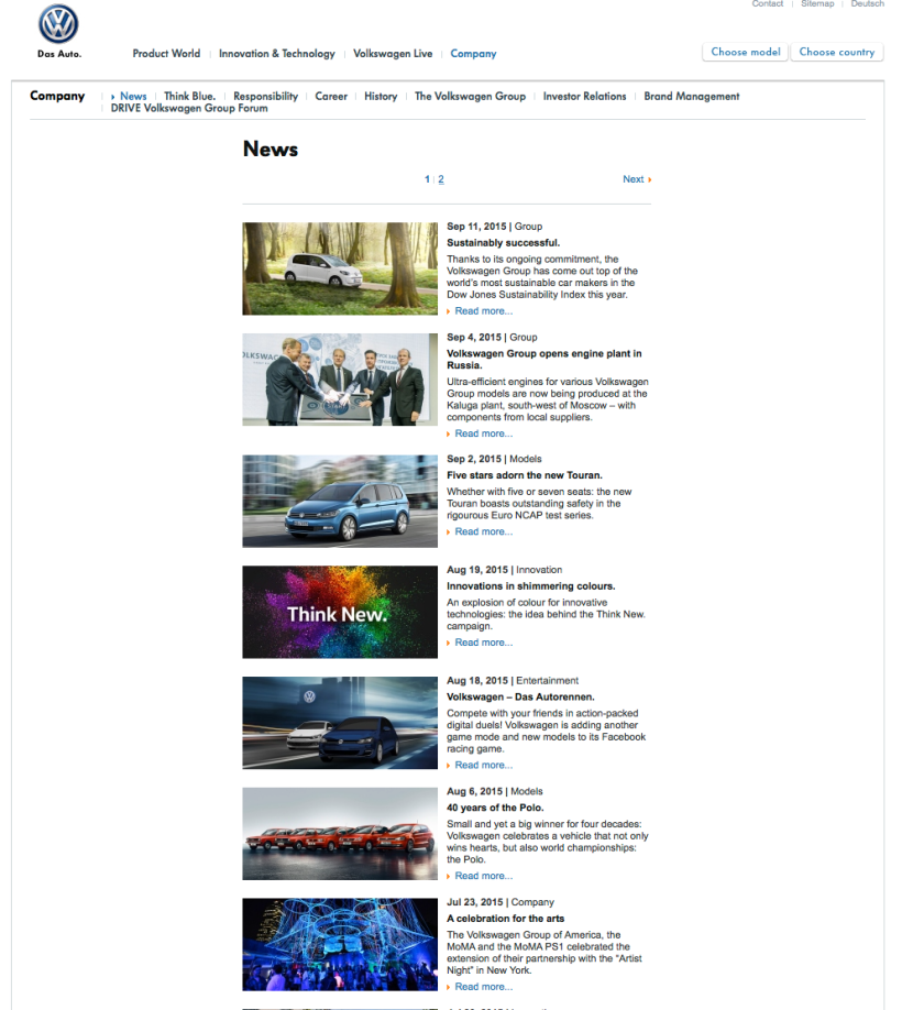 web volkswagen escándalo sin comunicado