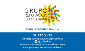 Datos Contacto Clara Fernández, Directora Grupo Reputación Corporativa